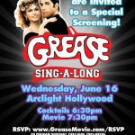Grease Sing-Along! Free at Arclight June 16 only!